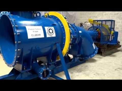 Kaplan Hydro Turbine S type, P=300kW