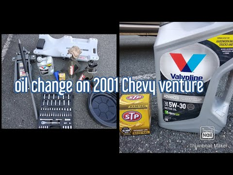 Oil Change On A 2001 Chevy Venture Youtube