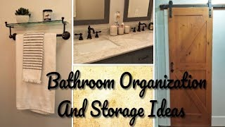 Bathroom Organization And Storage Ideas (Bathroom Decoration Ideas) Using Target Store Products.