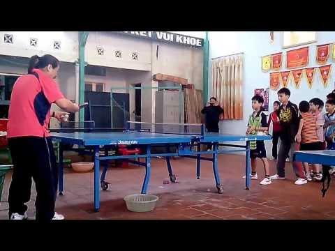 bài tập bóng bàn cơ bản - CLB Chiến Thắng