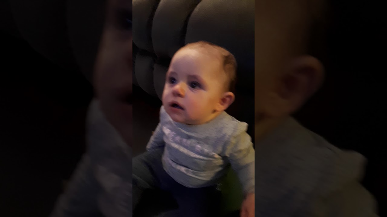 Baby cries during song - YouTube