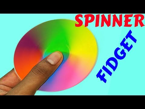 How To Make A Fidget Spinner Without Bearing  | Diy Paper Fidget Spinner Without Bearing |