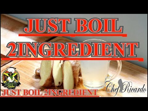 JUST BOIL 2 INGREDIENT GINGER & LEMON and DRINK IN THE MORNING !!