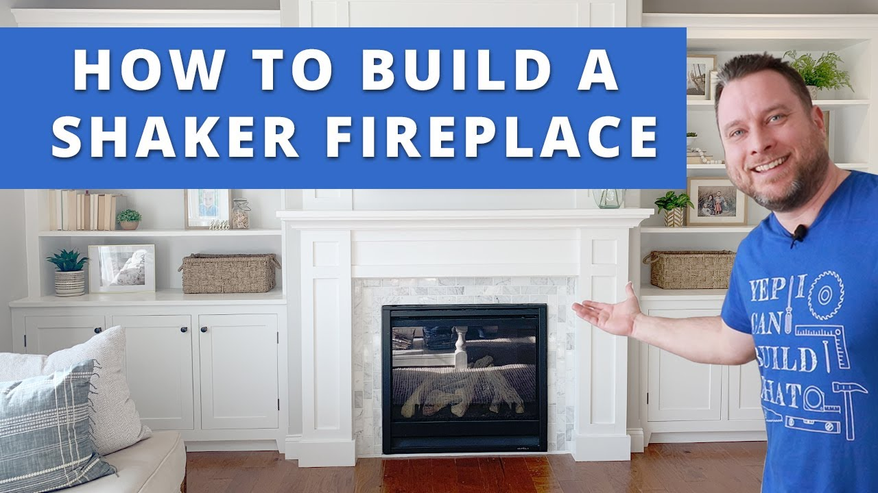 How To Build A Shaker Fireplace Surround And Mantel Diy Project Woodworking Youtube