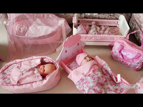Thumbnail: Baby Dolls Bed Wardrobe Change Table Play Baby Annabell Nursery Center Change Diaper Bedtime
