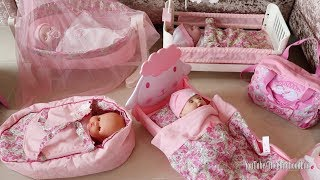 Baby Dolls Bed Wardrobe Change Table Play Baby Annabell Nursery Center Change Diaper Bedtime