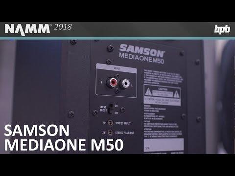 Samson MediaOne M50 Studio Monitors @ NAMM 2018