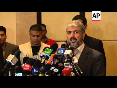 Hamas leader Khaled Mashaal comments on prisoner exchange