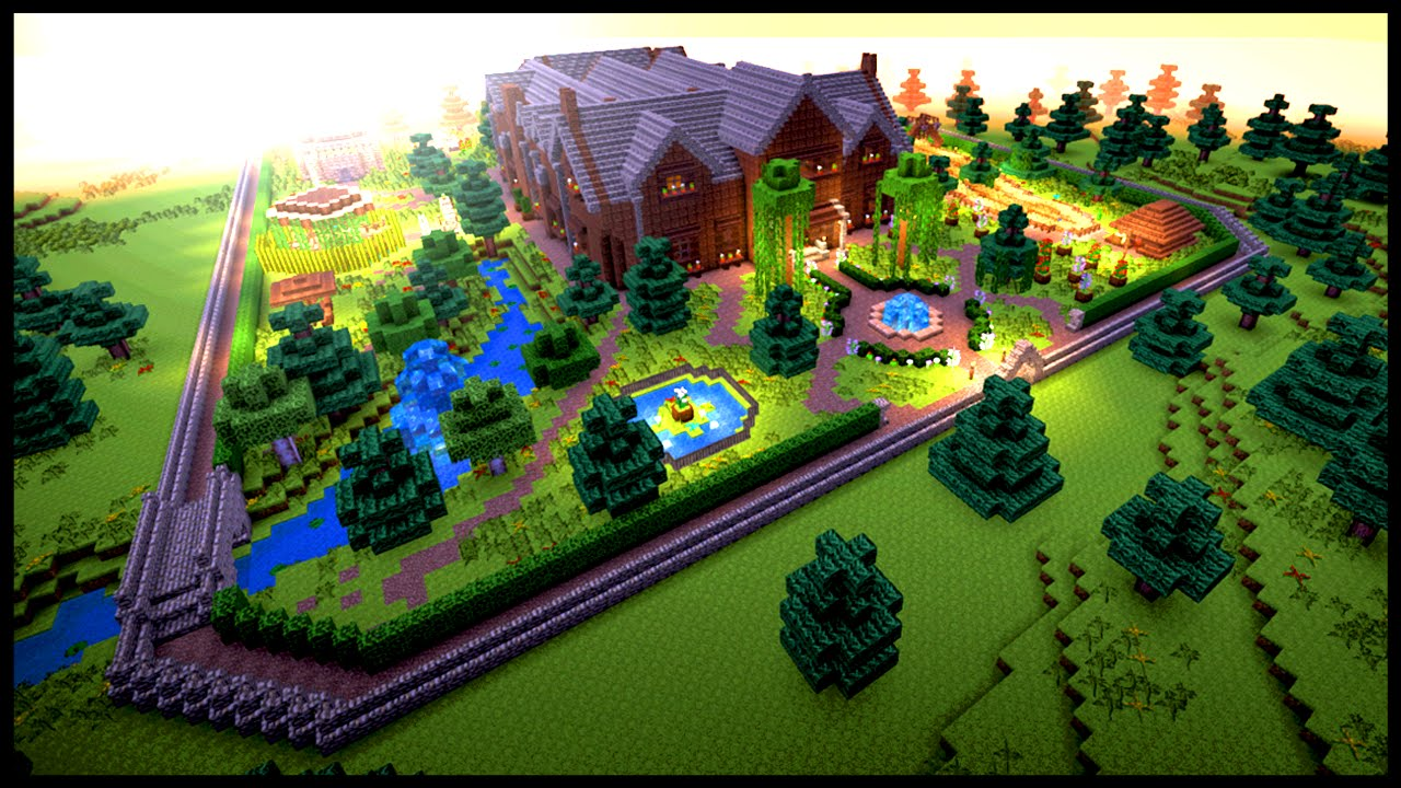 Designing your garden in minecraft youtube - Minecraft garden designs ...