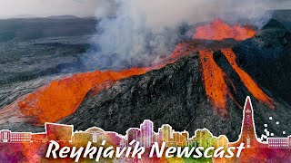 RVK Newscast #108: The Volcano Pushes Out 20 Metres High Lava Waterfall