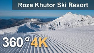 Rosa Khutor Ski Resort. Southern slope. Sochi, Russia. 360 video in 4K