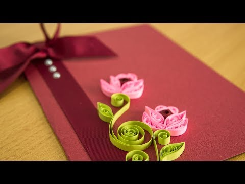 DIY Greeting Card: Paper Quilling Flower Art by HandiWorks