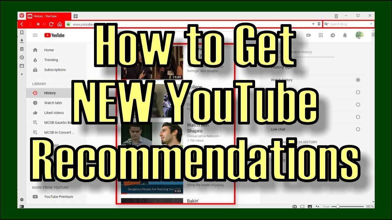 Download Get a NEW SET of Recommended Videos from YouTube