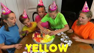 Learn English Colors! Giant Ice Cream  Surprise Eggs with Sign Post Kids!