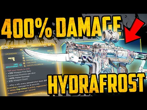 The HYDRAFROST - NEW BEST PISTOL? - 400% Plus Damage TESTING - Borderlands 3 Guns, Love & Tentacles