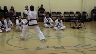 Helena's Cho Dan Knife form - 12th Annual Tang Soo Do Classic - April 26, 2014