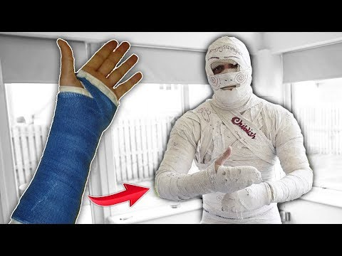 I Mummified My Entire Body With SOLID PLASTER CAST..