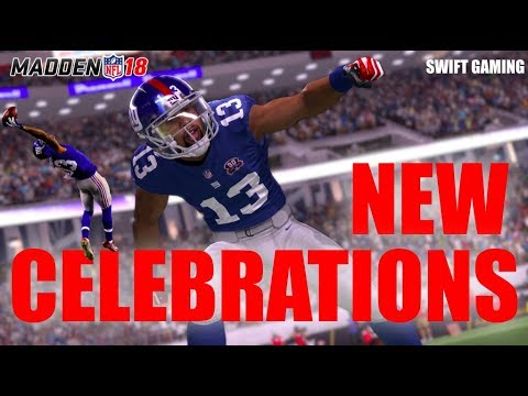 AWESOME NEW CELEBRATIONS IN MADDEN 18 REVEALED!! | HOW TO SHOWBOAT AND CELEBRATE IN MADDEN 18