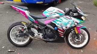 Knalpot Racing Yamaha R25 GBR Carbon V2 SL20 sound (idle)