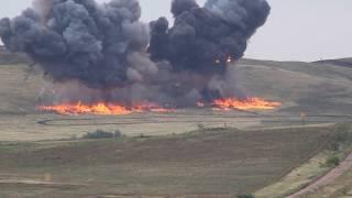 Наступление сухопутных сил ЦВО в ходе тактического учения в Оренбургской области
