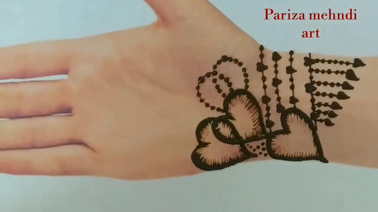 Heart Shape Easy Mehndi Design Heart Shape Mehndi Design Youtube