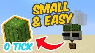 FASTEST 0 TICK CACTUS FARM Minecraft Tutorial - How to make a ZERO TICK Cactus Farm Tutorial 2020