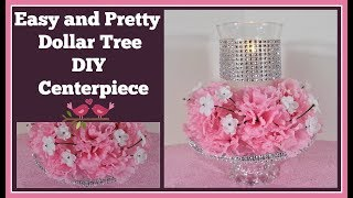 Pretty and Easy Dollar Tree DIY 🌸 Centerpiece for Wedding and Special Occasions
