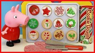 粉紅豬小妹玩餅乾切切樂切切看玩具故事!