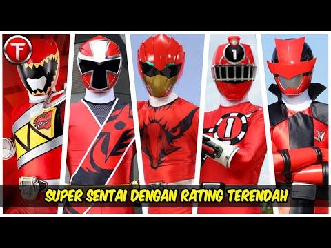 10 Super Sentai dengan Rating Terendah