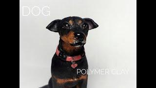Собака. Полимерная глина. / Dog. Polymer clay