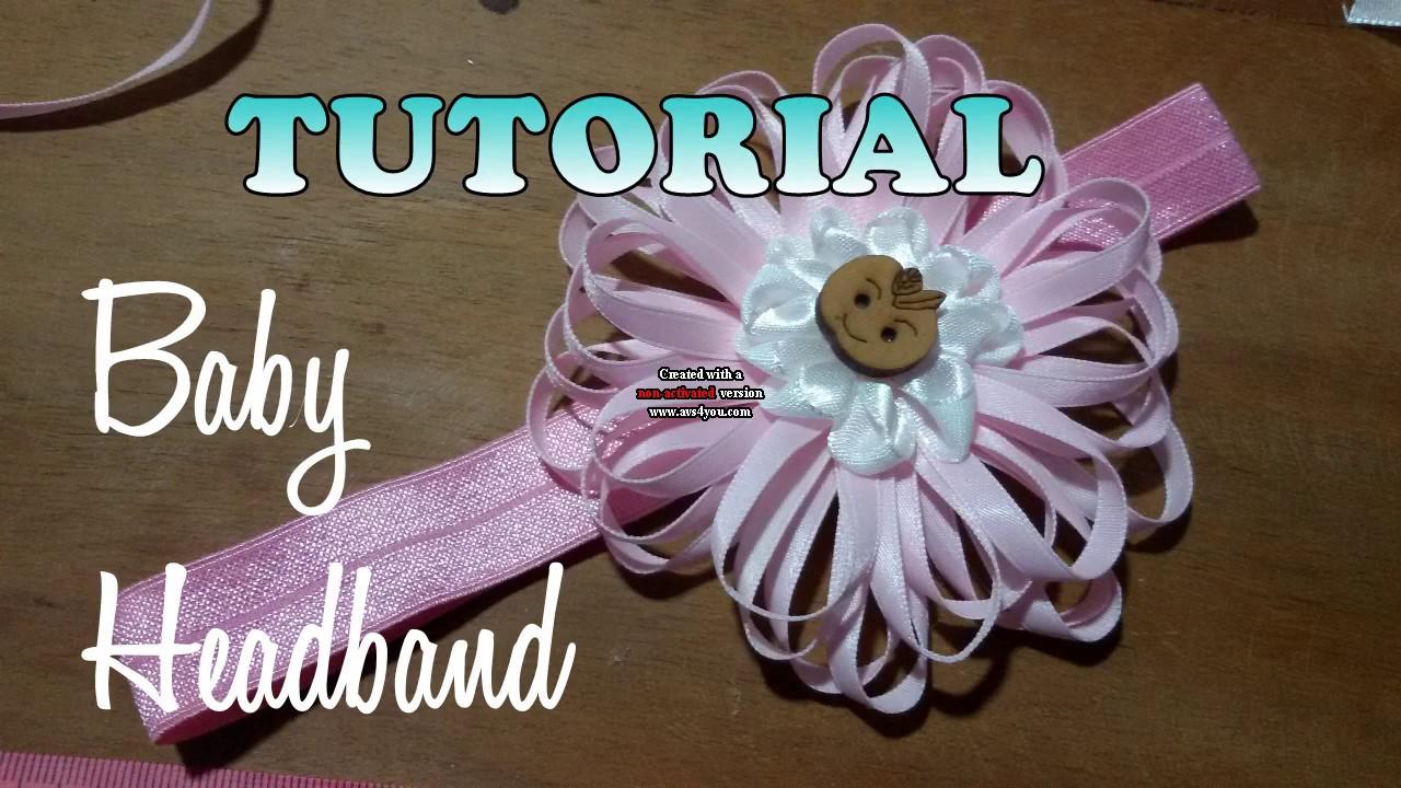 Diy Membuat Baby Headband Tutorial By Lista Tsurayya Youtube