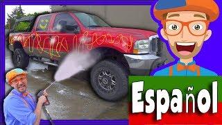 Auto Lavado de Blippi Español | Videos de Camiones para Niños y Infantiles
