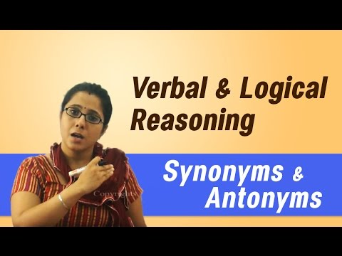 Best Tips & Tricks for Placements, IBPS, GRE, GMAT, CAT : - Synonyms & Antonyms