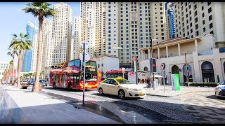 Cycle through The Walk at JBR Dubai in 4K