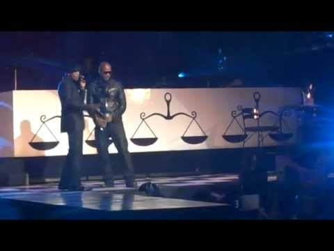 Ne-Yo and Jamie Foxx at American Music Awards afterparty performing She Got Her Own.MP4
