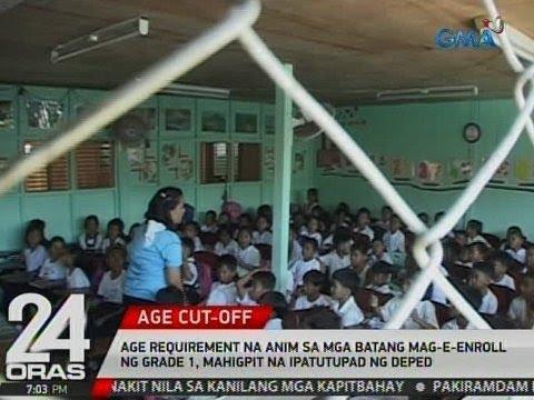 24 Oras: Age requirement na 6 sa mga batang magi-enroll ng Grade 1, mahigpit na ipatutupad ng DepEd
