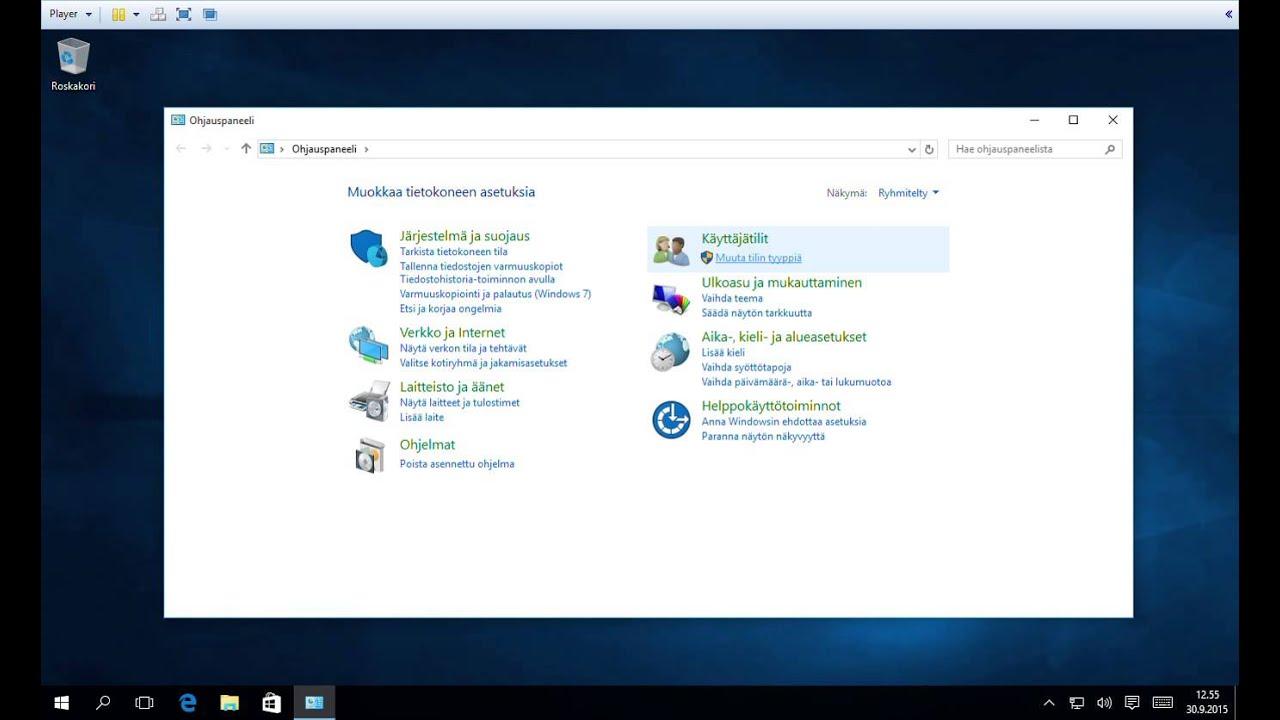 Windows Salasanan Vaihto