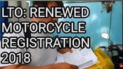 LTO RENEWAL OF MOTORCYCLE REGISTRATION 2018