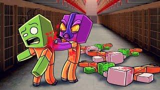 Minecraft   Prison Life - KILLING THE EVIL MOBS! (Jail Break in Minecraft) #7