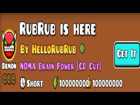 ANOTHER CLICKBAIT DEMON : RubRub Is Here By HelloRubRub.. | Geometry Dash
