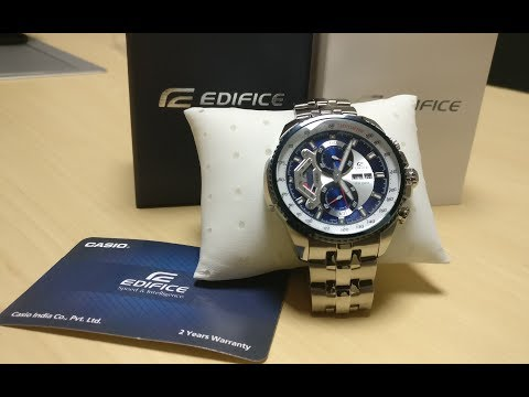 Casio Edifice Unboxing And Chronograph Test
