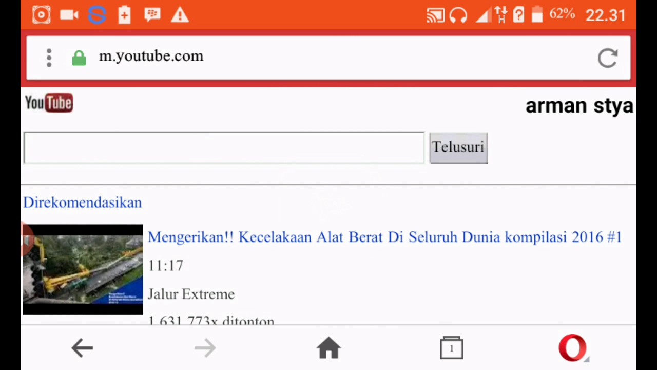 Cara download video youtube di hp android youtube.
