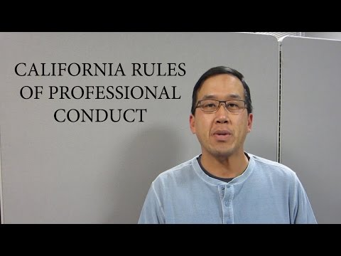 California Rules Of Professional Conduct For Lawyers - The Law Offices Of Andy I. Chen