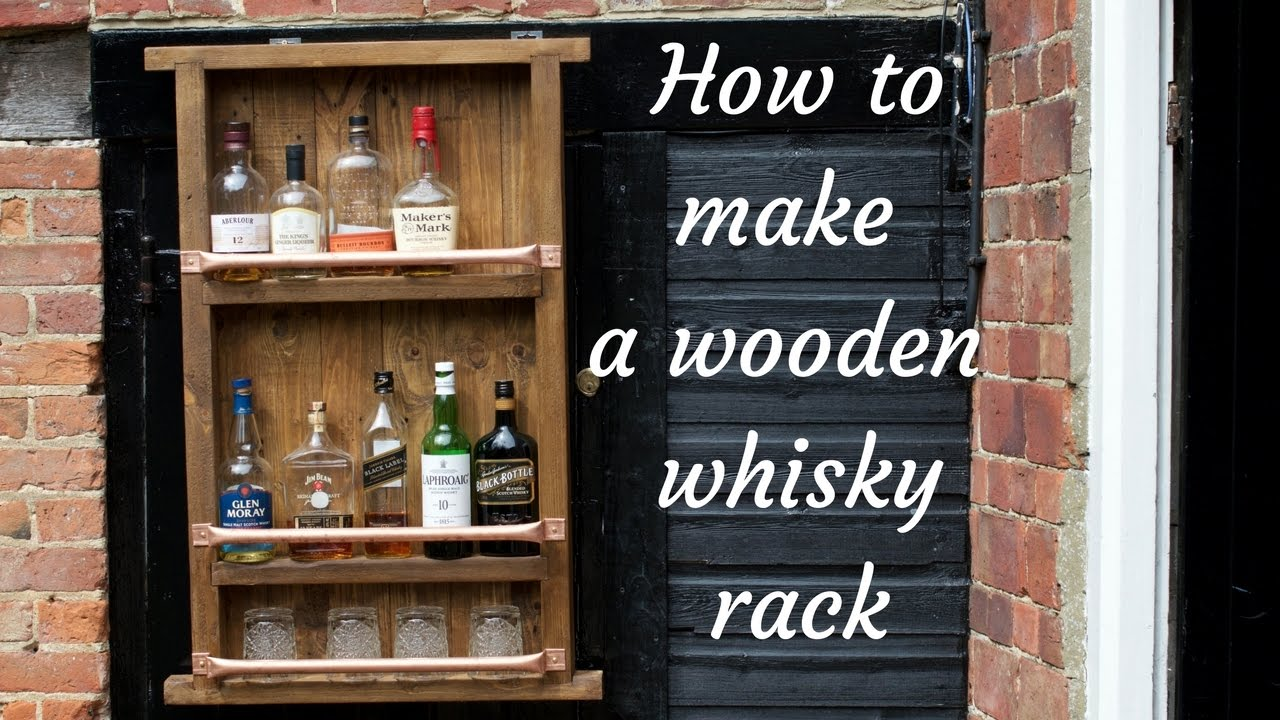 Wooden Bottle Rack How To Make A Wooden Bottle Wine Whiskey Rack