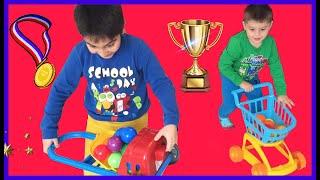 Rüzgar ve Demir Madalya Yarışı Yaptılar Yarışı Kazan Altın Madalyayı Kap. Süper yarış. Çocuk Videosu