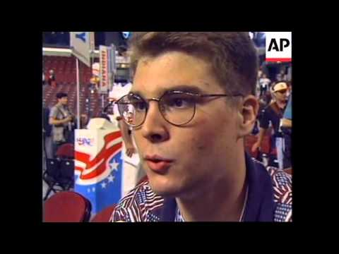 USA: CHICAGO: DELEGATES ARRIVE FOR 1996 DEMOCRATIC PARTY CONVENTION