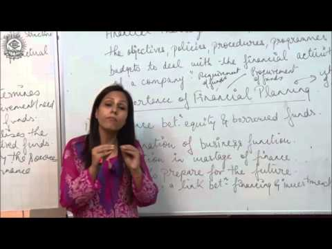 Introduction and Importance of Financial Planning Class XII Business Studies by Dr Heena Rana