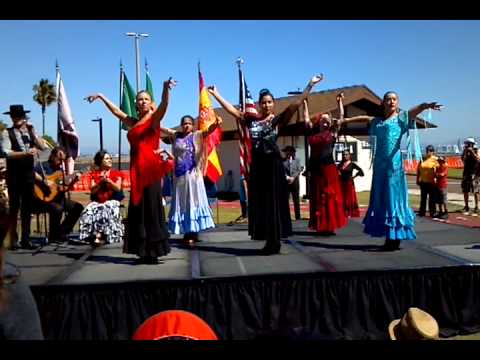 Spanish dancers at the Cabrillo festival.