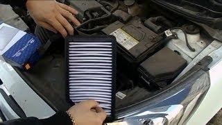 видео Замена воздушного фильтра Хендай (Hyundai), замена воздушного фильтра Киа (Kia)