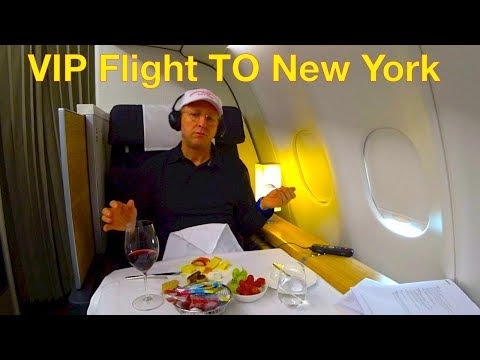 When VIP FREQUENT TRAVELER flying First Class to New York, then